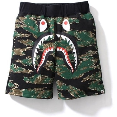 Bathing Ape Tiger Camo Shark Sweat Short