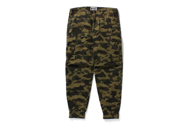 "A BATHING APE BAPE 1ST ""GREEN"" CAMO 6 POCKET TRACK PANTS"