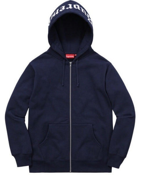 "Supreme Old English ""Navy"" Hoodie"