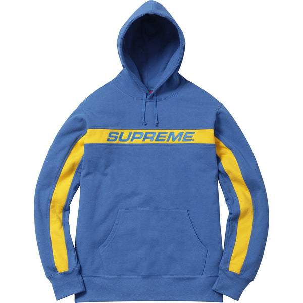 "SUPREME FULL STRIPE HOODED ""ROYAL"" SWEATSHIRT"