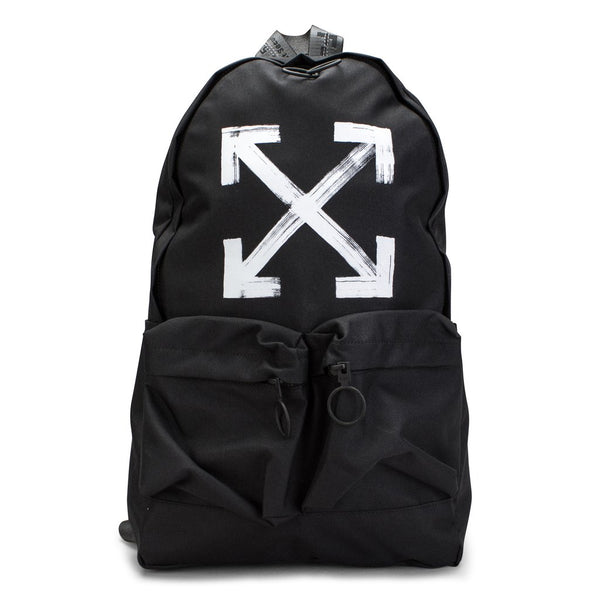 OFF White Brushed Diagonal Arrows Backpack