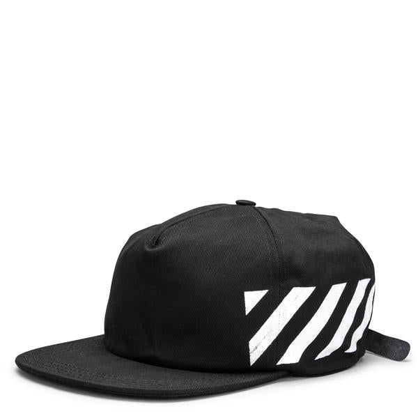 "OFF-WHITE ""BLACK"" Diagonal Brushed Cap"