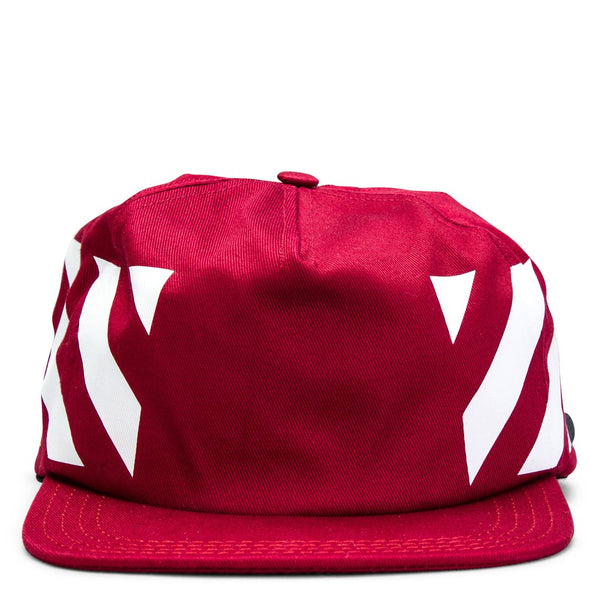 "OFF-WHITE ""Burgundy"" Diagonal Brushed Cap"