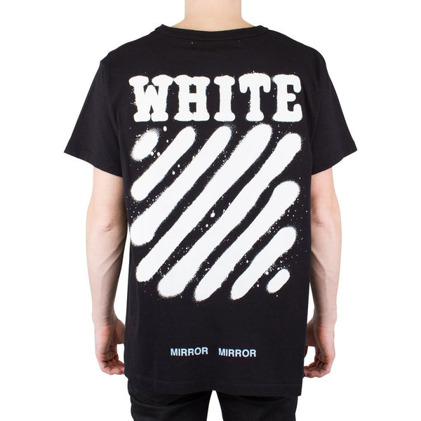 "Off-White Diagonal Spray Tee ""Black"""