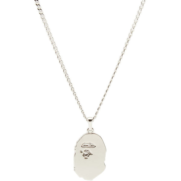 "A BATHING APE  BAPE APE HEAD NECKLACE ""SILVER"""