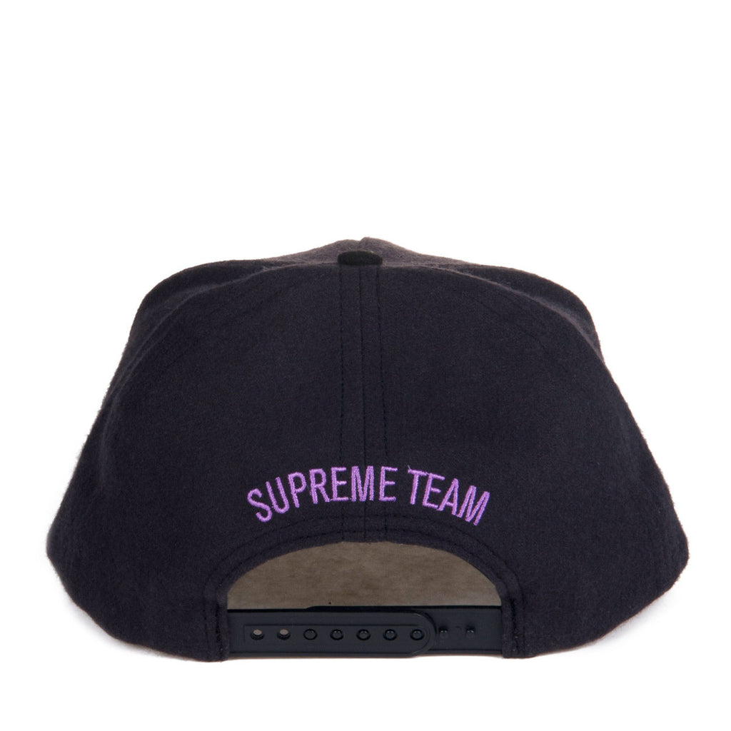 "Supreme Mens Flannel S ""Supreme Team"" Black/Purple"
