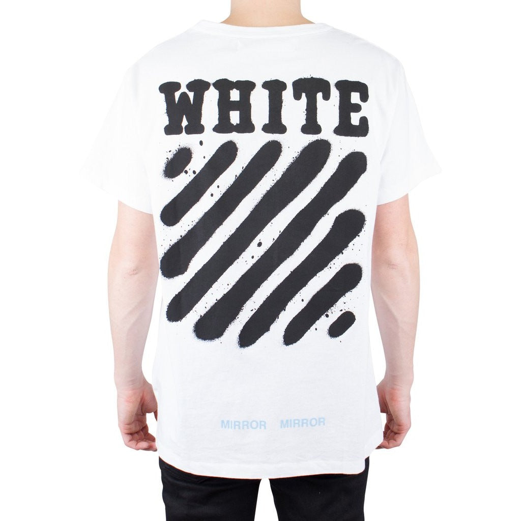 "Off-White Diagonal Spray Tee ""White"""