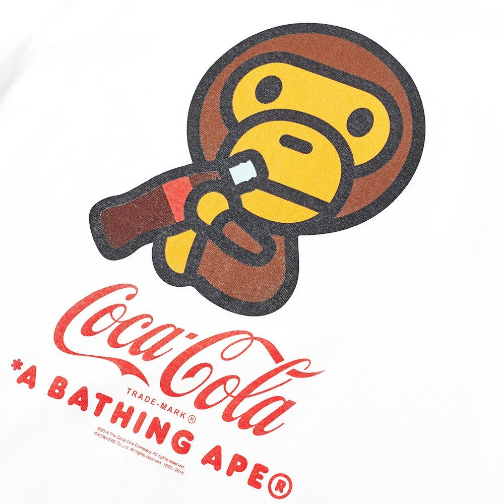 "A Bathing Ape ""COCA COLA MILO WHITE TEE "" #1"