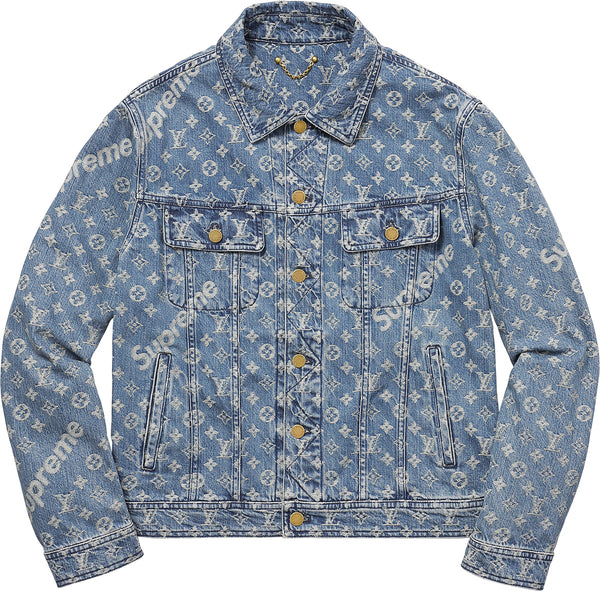 Louis Vuitton / Supreme Jacquard Denim Trucker Jacket