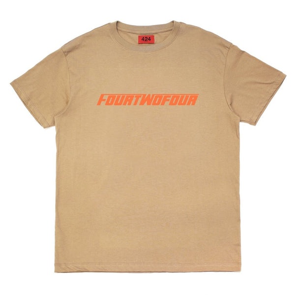"424 FASTFONT T-SHIRT ""CAMEL/ORANGE"""