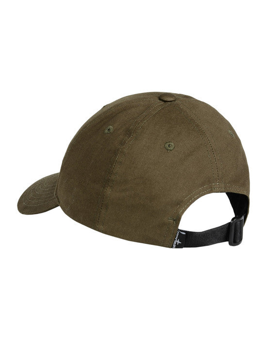 "Copy of STONE ISLAND ""OLIVE"" COTTON REPS CAP"
