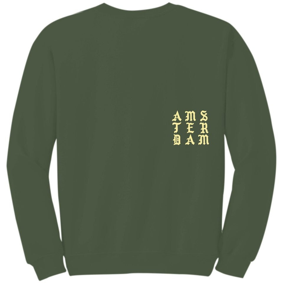 "KANYE WEST ""PERFECT"" MILITARY GREEN CREWNECK"