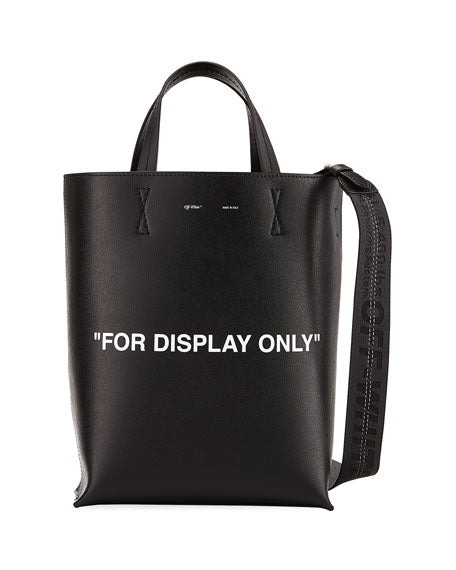 "Off-White Saffiano Leather ""For Display Only"" Tote Bag"