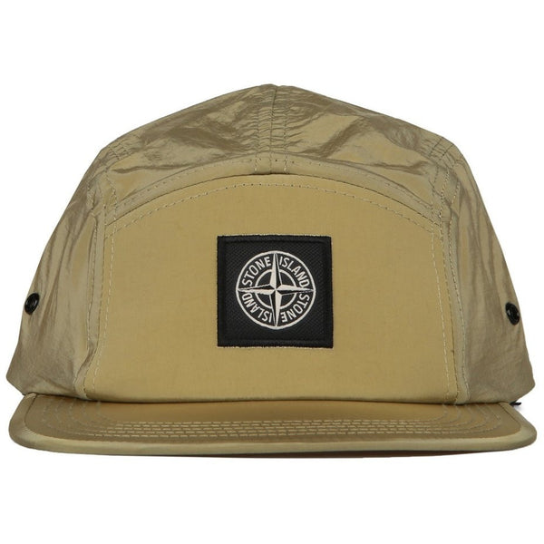 "STONE ISLAND NYLON ""OLIVE GREEN"" 5-PANEL CAP"