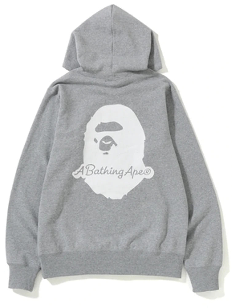 "A BATHING APE PATCH HOODIE ""GREY"""
