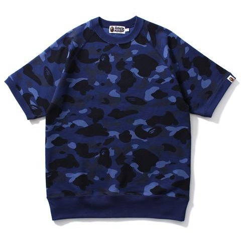 "A Bathing Ape BAPE ""BLUE"" Color Camo Crewneck Shirt"