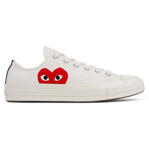"COMME DES GARCON CDG PLAY CONVERSE ALL-STAR LOW ""CREAM"""