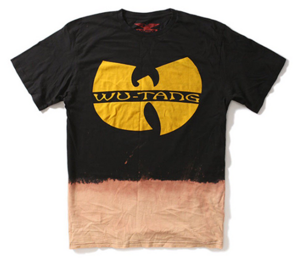 "VINTAGE WEAR LOS ANGELES WU-TANG YELLOW LOGO ""BLACK"" T-SHIRT"