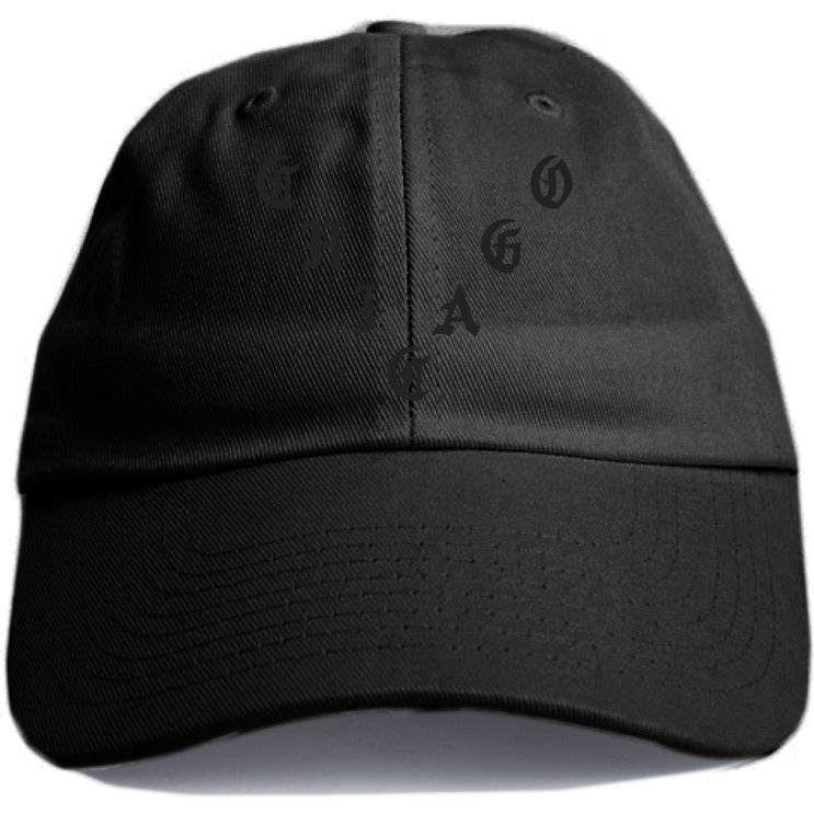 "KANYE WEST ""CHICAGO"" BLACK DAD HAT"