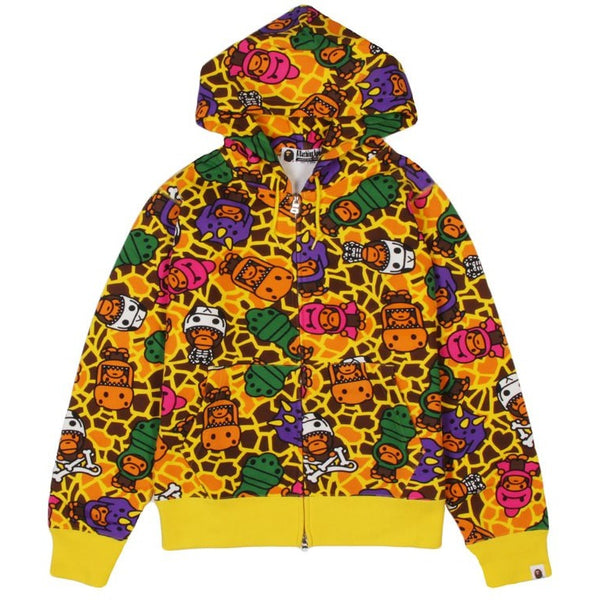 MILO DINOSAURS ZIP HOODIE BY BATHING APE