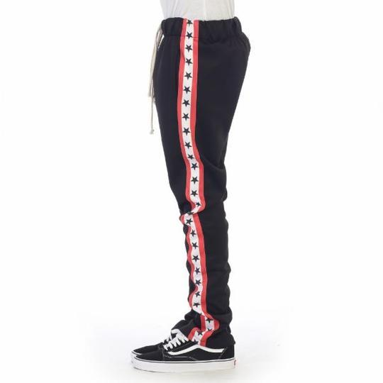 "EPTM EP7838 ""BLACK/RED/WHITE STARS"" TRACK PANTS"