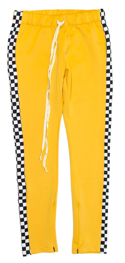 "EPTM RACING TRACK ""YELLOW/CHECKERED"" PANTS"