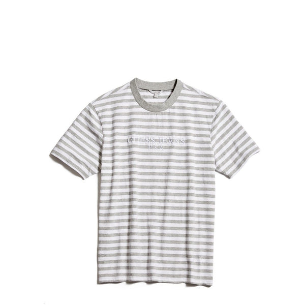 "GUESS x ASAP ROCKY DAVID REACTIVE 3 STRIPED TEE ""GREY/WHITE"""