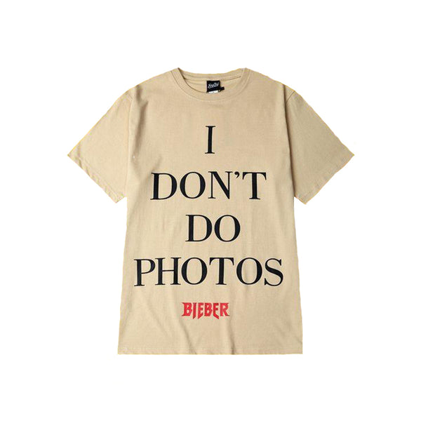 "JUSTIN BIEBER PURPOSE TOUR MERCH ""I DON'T DO PHOTOS"" T SHIRT"