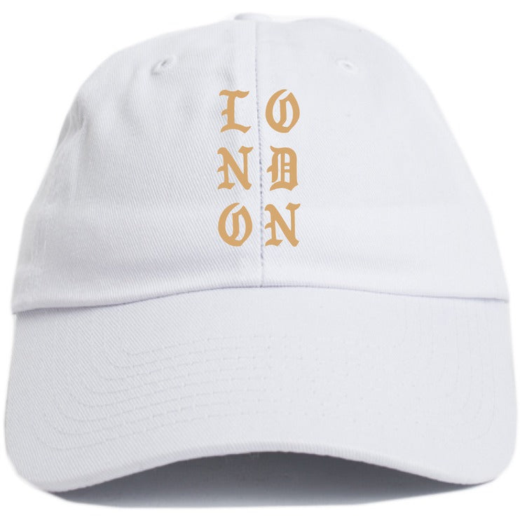 "KANYE WEST ""LONDON"" WHITE DAD HAT"