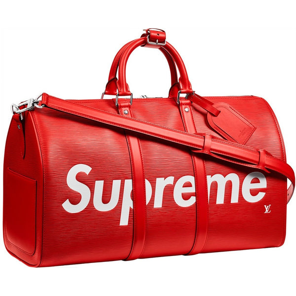 "Louis Vuitton x Supreme Keepall ""Red Bag"" Duffle Bag"