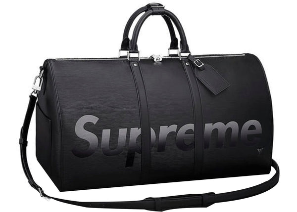 "Louis Vuitton x Supreme ""Black"" Keepall Bandouliere Epi 55"