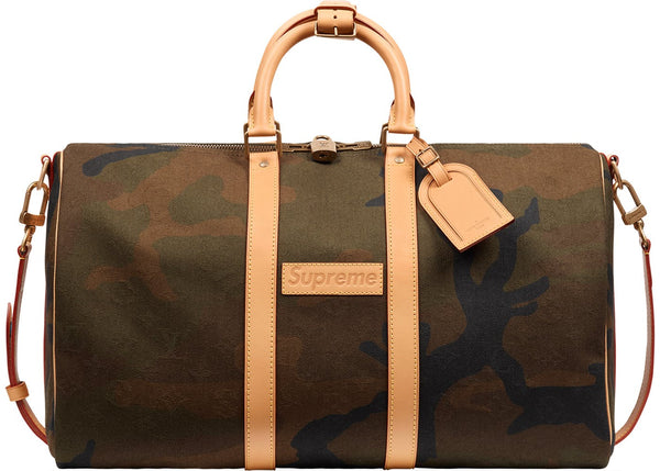 "Louis Vuitton x Supreme Keepall Bandouliere Monogram ""Camo"" Duffle Bag"