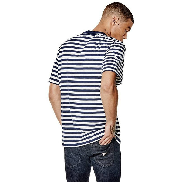 "GUESS ""NAVY BLUE"" DAVID REACTIVE SHORT-SLEEVE TEE"