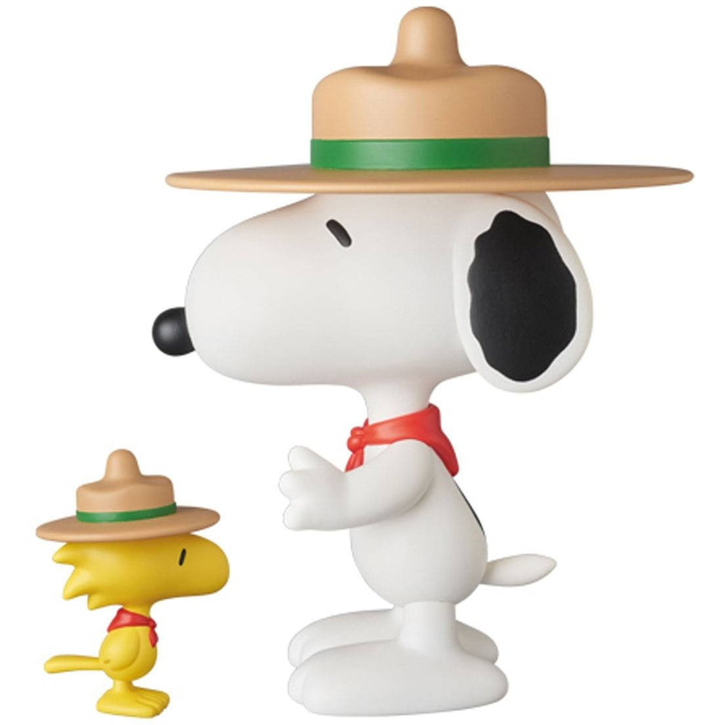 MEDICOM PEANUTS VCD BEAGLE SCOUT SNOOPY AND WOODSTOCK