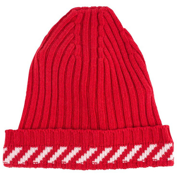 "Off White Diagonals ""RED"" Beanie"