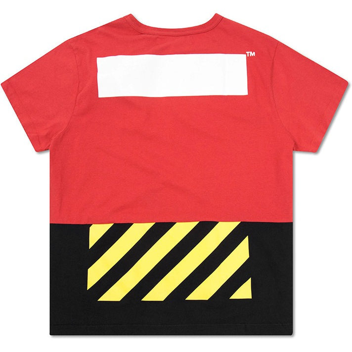 OFF-White c/o-Shirt Virgil Abloh White Patchwork Tee