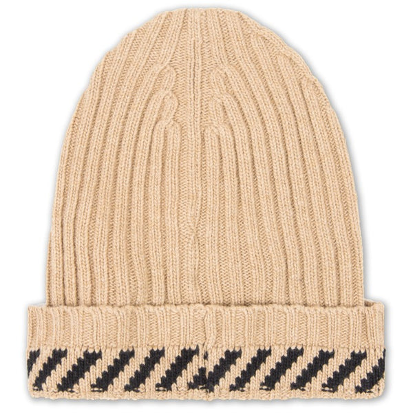 "OFF-White Diagonals ""OATMEAL"" Beanie"