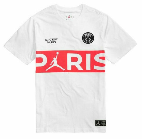 Jordan Paris Saint-Germain Shirt White/Infrared