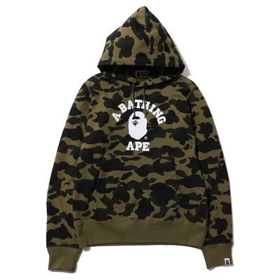 "A Bathing Ape 1st Camo College ""Green"" Hoodie"