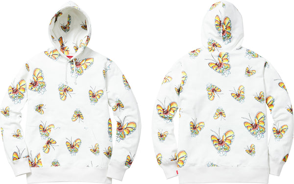 "SUPREME GONZ BUTTERFLY ""WHITE"" HOODED SWEATSHIRT"