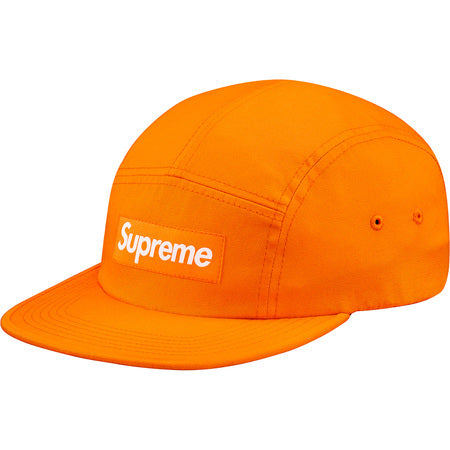 "SUPREME WASHED CHINO TWILL ""ORANGE"" CAMP CAP SS17H35"