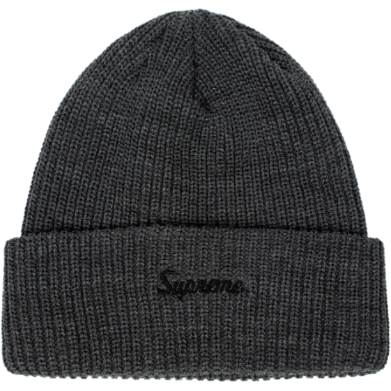 "Supreme Embroidered Script Logo ""Grey"" Beanie"
