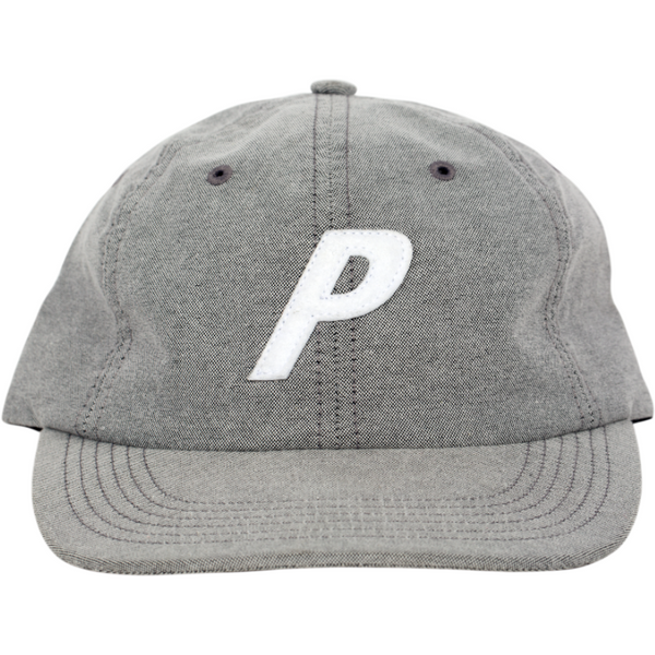 Palace Grey Denim Strap Back Hat