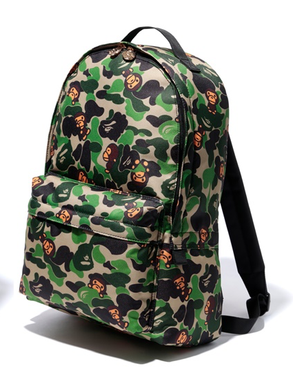 "A BATHING APE BAPE BABY MILO ""GREEN CAMO"" BACKPACK"