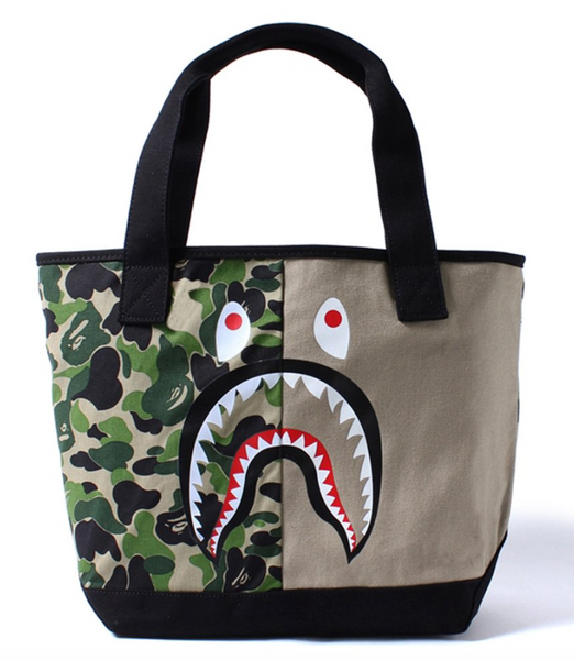 A BATHING APE BAPE SHARK TOTE BAG
