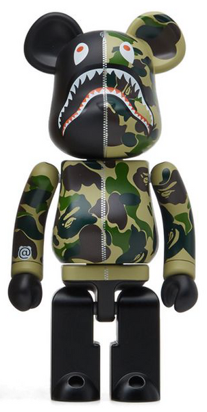 MEDICOM X A BATHING APE BAPE ABC CAMO SHARK ALLOYED CHOGOKIN 200% BE@RBRICK