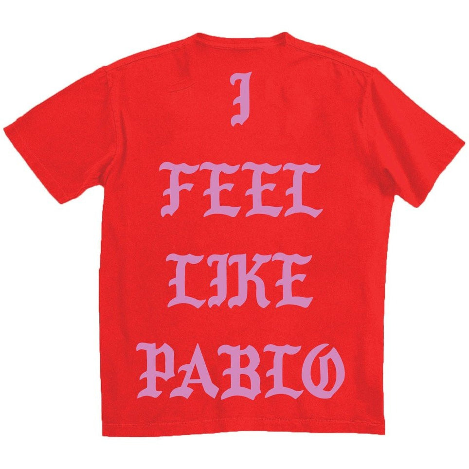 "KANYE WEST ""I FEEL LIKE PABLO"" SINGAPORE RED T SHIRT"