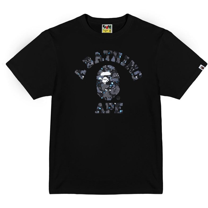 "A BATHING APE ""SPACE CAMO"" COLLEGE TEE"