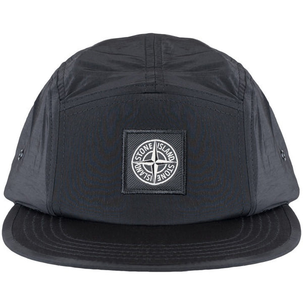 "STONE ISLAND NYLON ""BLACK"" 5-PANEL CAP"