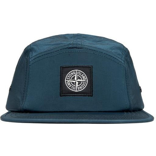 "STONE ISLAND NYLON ""AVIO BLUE"" 5-PANEL CAP"